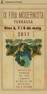 Cartell Fira modernista 2011